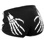 Rollerbones Woman's Booty Shorts Black/White