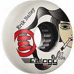 Eulogy Pro Erik Bailey Lady Killer Signature Aggessive Inline Wheel 57mm 89A 4pk White