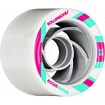 Rollerbones Turbo Rogue Runner Signature Rollerskate Wheel 62mm 88A White 8pk