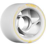 Rollerbones Turbo Wheel Clear Aluminum Hub 62mm 94a Left 4pk White